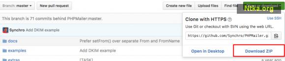Google SMTP ile PHPMailer İndirme