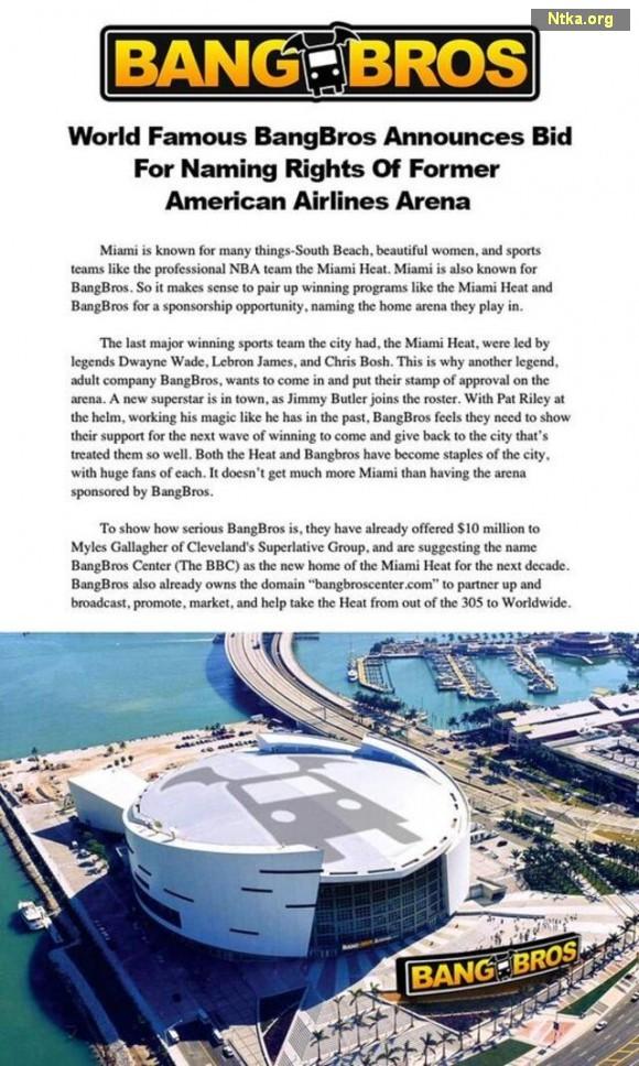 Miami Heat, Miami Arena, BANG BROS