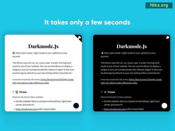 web sitesine karanlık yapma