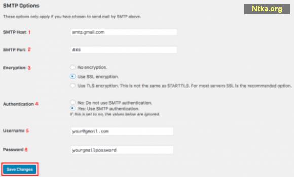 SMTP Ayarları Sayfası