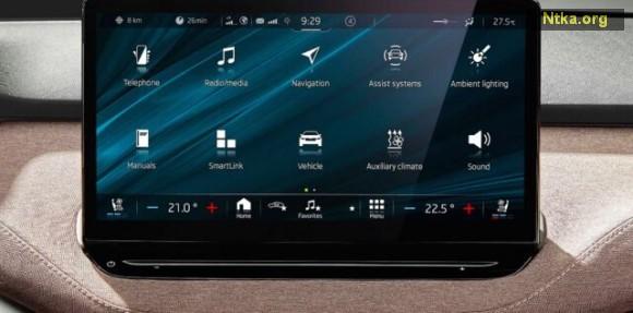 Skoda Enyaq iv multimedya ekranı