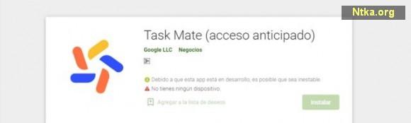 Google Task Mate uygulaması